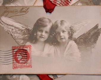 Vintage Christmas Angels from Vintage Paris Postcard Christmas Tags