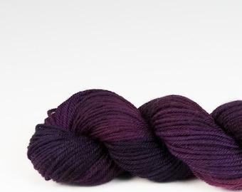 Mini skein, handpainted yarn, Merino and Nylon, Fingering/Sock, Splash, Huckleberry.