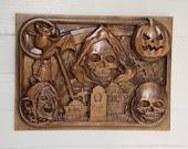 Halloween Decoration Wood...