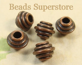 6.5 mm x 5 mm Antique Copper Spacer Bead - Nickel Free, Lead Free and Cadmium Free - 20 pcs