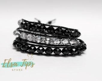 Bracelet, bracelet pour les femmes, Boho bracelet, Bohème, perles bracelet Wrap bracelet en cristaux tchèques, bracelet pour femme, cadeau d'anniversaire