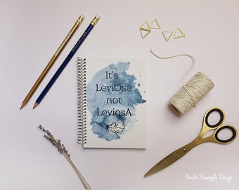 It's LeviOsa — Potterhead inspired Hermione quote | A6 pocket size notebook gift idea