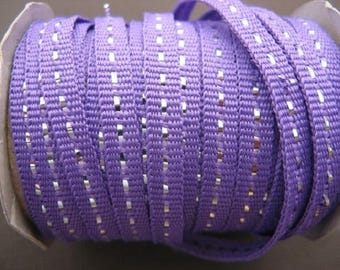 Purple Ribbon with silver dotted x2m 6mm
