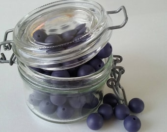 round beads INDIGO silicone of 15mm for making sweet...