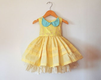 Pastel Yellow and Mint with Petticoat
