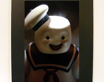 "Framed Mr. Stay Puft Toy Photograph 5""x7"" Ghostbusters"