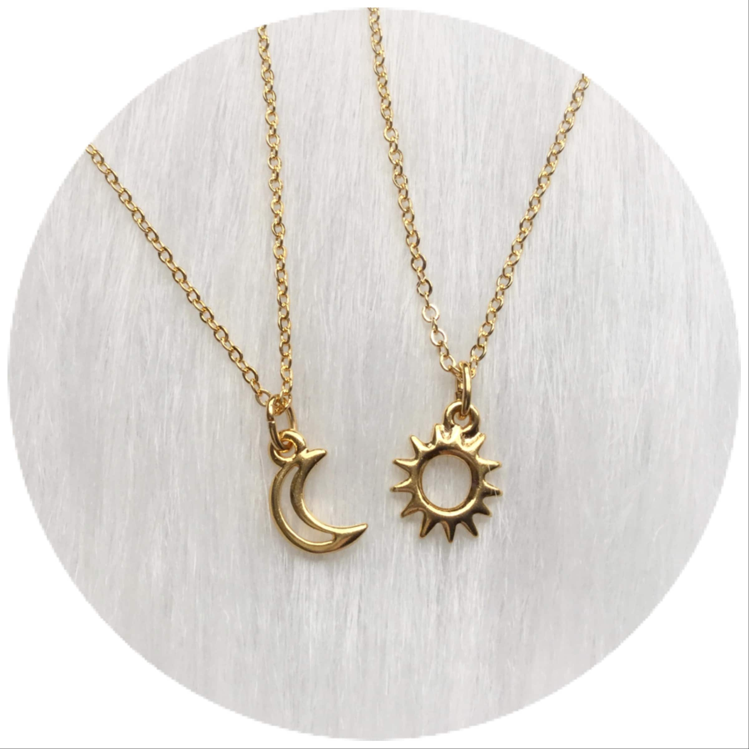 products mama and luna moon necklace me grandma stars stella sun charm necklaces
