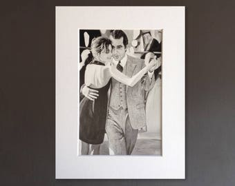 SCENT OF A WOMAN wall art - giclee print of 'Dancing Slade' acrylic painting by Stephen Mahoney - Al Pacino portrait dancing the Tango