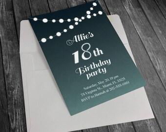 Printable Birthday Invitation, Birthday Party Invitation, Custom Party Invitation, Printable Party Invitation, Birthday Party Printable