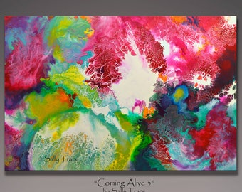 Original Abstract Painting Print, Fluid Painting Print From My Acrylic Painting, Cosmic Art Space Art, Large Wall Art, Modern Painting Print