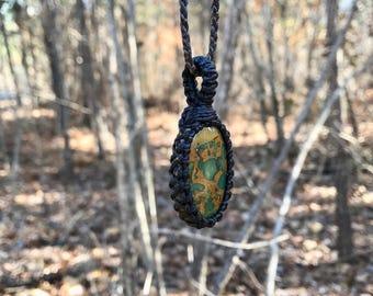 Fruit Jasper Necklace / Jasper Jewelry / Colorful Orange / Healing gemstones and crystals / Earthy / Hippy Jewelry / Boho chic