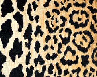 SALE!!!!,DV61206-600 Black/Camel Velvet Fabric By The Yard