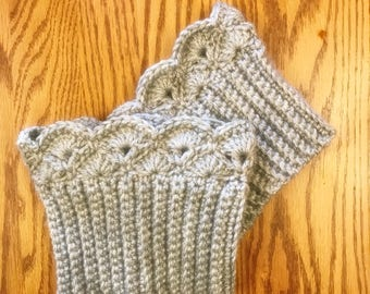 Light Gray Boot Cuffs, Boot Toppers