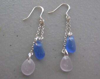 Sea Glass Dangle Earrings Jewelry, Handmade Earrings, Seaglass Earrings, Beach Glass Dangle Earrings, Sea Glass Jewelry