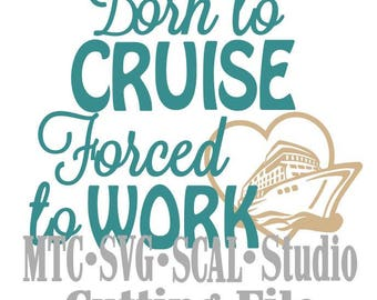 SVG Born to Cruise Quote Saying #02 Cut Files Embellishment  Silhouette MTC SCAL Cricut Cutting File