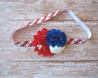 Fourth of july headband, red white and blue headband, 4th of july headband, july 4 headband, red and blue headband, patriotic headband