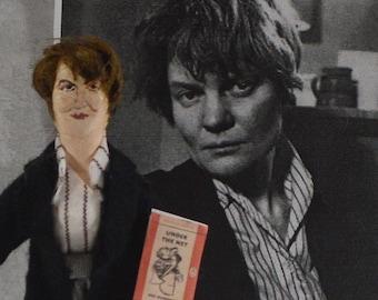 Iris Murdoch Doll British Writer Women Authors Bibliophile Art