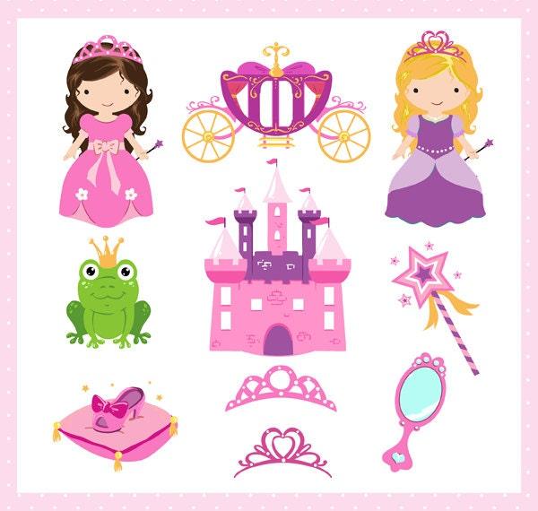 princess clipart set princess story pinks clip art digital rh etsy com princess clipart png princess clipart png