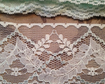 10.7 yds Celadon Alencon Lace