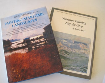 Pair Art Instruction Books Painting Maritime Landscapes John Pellew 1973 First Edition  Seascape Painting Borlase Smart 1969