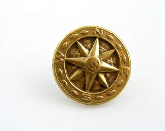 Compass Pin, Compass Tie Tack, Nautical Jewelry, Gift for Men, Compass Jewelry, Gift for Him, Scarf Pin, Lapel Pin, Ocean Jewelry, P219