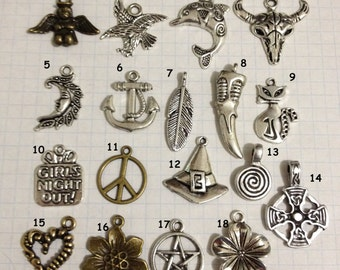 Large Charms to add to your Friendship bracelets - 18 options