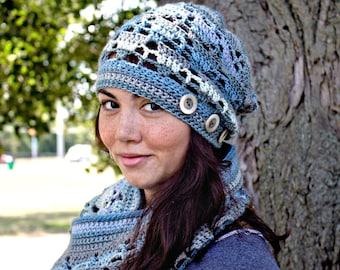 Crochet Pattern Slouchy Hat Beanie Aspen PDF 16-275