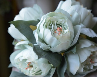 Lovely Peony Bunch in mint -ITEM010