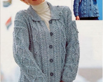 womens jacket dk knitting pattern 99p