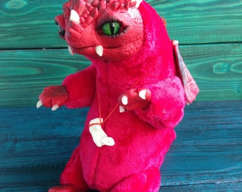 FANTASY CREATURE Little Fireborn Dragon Ooak Fantasy Creature Doll Art Dragon Sculpture Ooak Doll Art Fantasy Sculpture Monster Toy Ooak