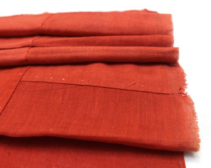 Japanese Safflower Boro Textile. Benihana Cotton Scrap Panel (Ref: 1891)