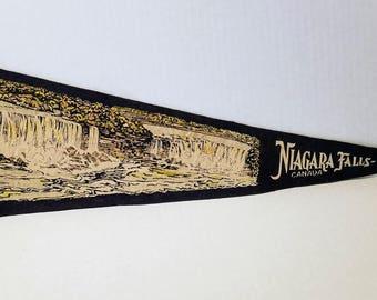 Niagara Falls, Canada - Vintage Pennant