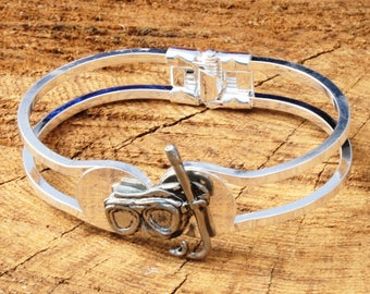 Diving Mask Bracelet Bangle Pewter Ladies Diving Gift