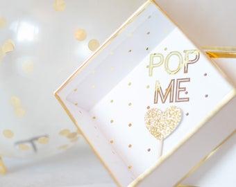 Bridesmaid Proposal Balloon Pop Will You Be My Bridesmaid Bridesmaid Gift
