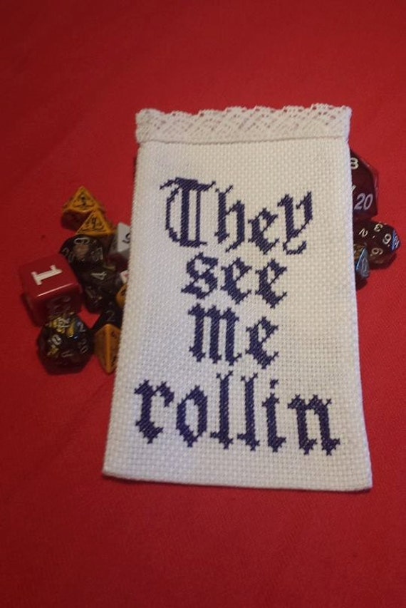 They See Me Rollin\' D&D Dice Bag Pattern