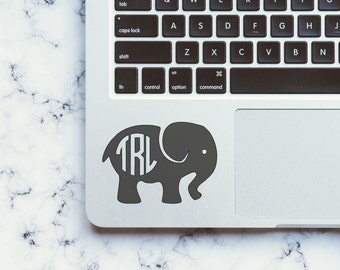 Elephant Monogram Decal-Elephant Deal-Monogram Decal-Vinyl Decal-Car Decal-Phone Decal-Laptop Decal-Sticker-Yeti Decal-Cheap Shipping