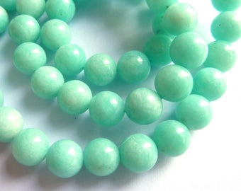 Amazonite beads bluish O PK0850 to the unit gem stone 12mm semi precious