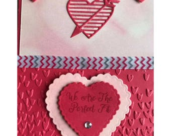 We Are The Perfect Fit Heart Card, Anniversary Card, Valentines Day Card