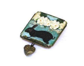 Aqua Bunny Brooch - Bunny Brooch - Aqua Brooch - Bunny Jewelry - Rabbit - Rabbit Jewelry - Easter Jewelry - Bunny - Aqua - Woodland Jewelry