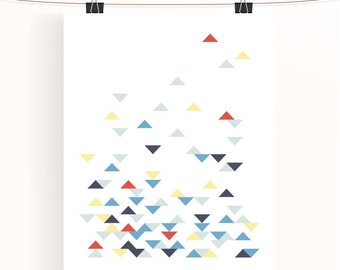 Abstract geometric print - triangle poster - home decor - home wall art - nursery print