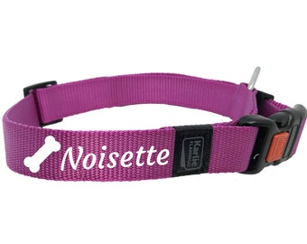 Personalized dog collar pink