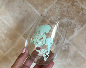 Sip Back & Relax Mermaid Stemless Wine Glass, Summer Wine Glass, Mermaid Wine Glass, Beach Lover Wine Glass, Birthday Wine Glass, Mermaid