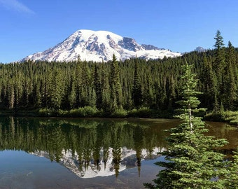 Mount Rainier, Landscape Photo, Nature Image sizes 5x7 to 13x19,