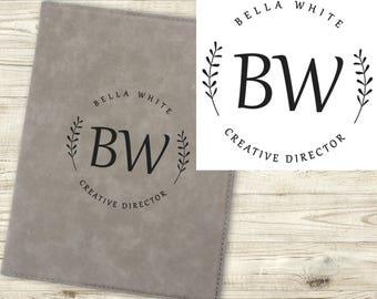 Personalized Portfolio - Leatherette Notebook  - Business Gift - Job Promotion Gift - New Job - Career Advancement -  Portfolio Notepad
