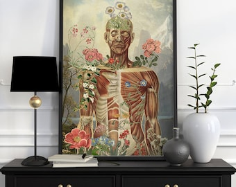Nature is all around Muscles study art Wall decor art, Anatomical art decor, anatomical art, Muscles Wall flower SKA150WA3