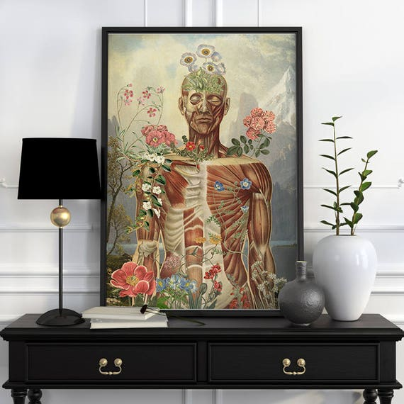 Nature is all around, anatomical art, anatomy art, wall art, wall decor, anatomy, poster, muscles art, muscles, medical art, SKA150WA3