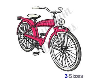 Vintage 1960s Sears Bicycle - Machine Embroidery Design