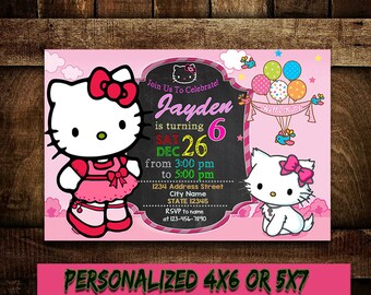 Hello Kitty Birthday Invitation,Hello Kitty Party,Hello Kitty Birthday Party,Hello Kitty Invitation,Hello Kitty Printable,Hello Kitty