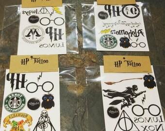 Harry Potter Tattoos : Handmade Custom Temporary Tattoo Sheets