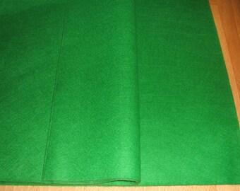 "Emerald Green Felt Fabric Squares 12"" x 12"" x three"